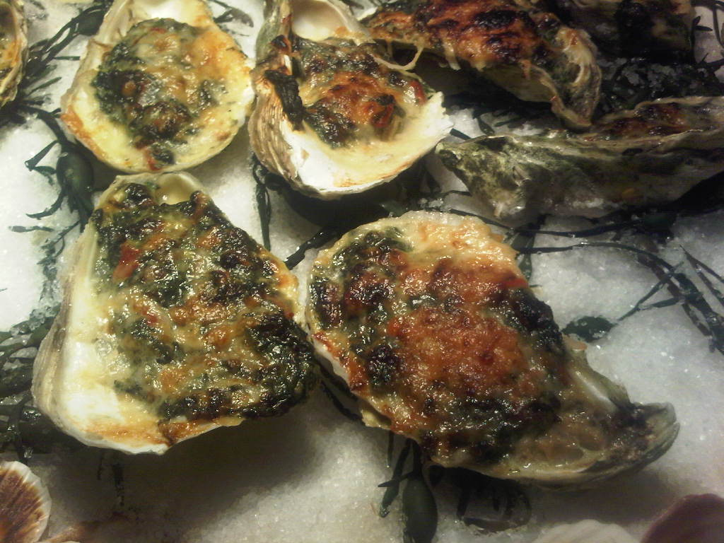 Oysters rockefeller the foodarazzi for Seashell fish chicken chicago il